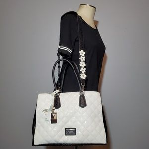 Guess black and white purse